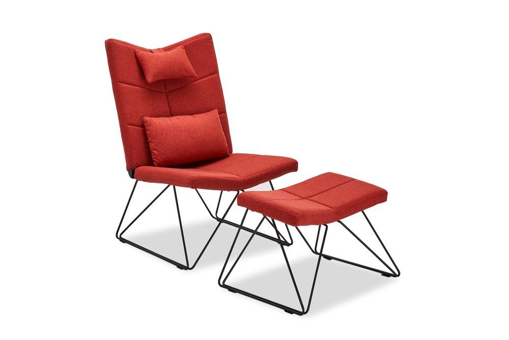 Relax fotel Abbott piros - nyitott csomag SK-RP