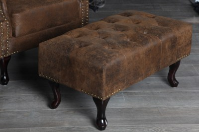 Luxus Chesterfield puff Antik Look